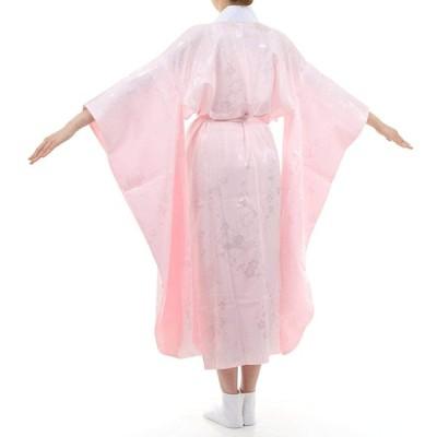 3Lサイズ お仕立て上がり 振袖用 長襦袢 「ピンク」 掛け衿付き 特典で衿芯2本付き