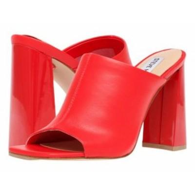 Steve Madden スティーブマデン レディース 女性用 シューズ 靴 ヒール Tule Heeled Sandal Red Leather【送料無料】