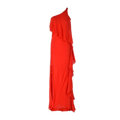 パトリティア ペペ セーラ PATRIZIA PEPE SERA ロングワンピース&ドレス レッド 44 100% レーヨン ロングワンピース&ドレス