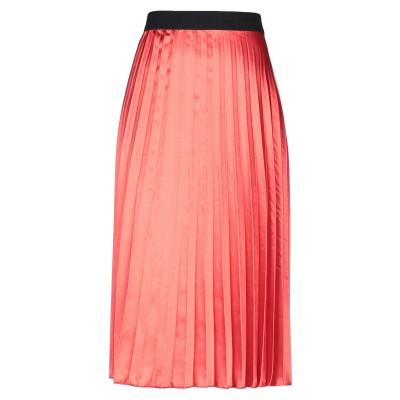 SOALLURE 7分丈スカート レッド S ポリエステル 100% 7分丈スカート