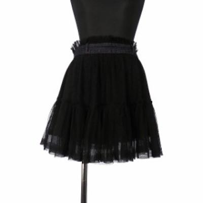【中古】ディーゼル DIESEL ティアードスカート ボトムス XS ブラック 黒 SSAW レディース