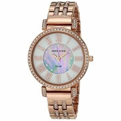 腕時計 Anne Klein Considered Women's Solar Powered Swarovski Crystal Accented Bracelet Watch