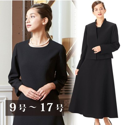 正礼装ロング丈スカートのブラックフォーマルアンサンブル(110031655)