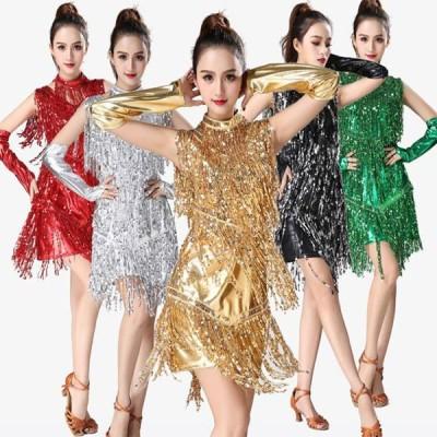 ラテンダンス ウェア レディース ワンピース ドレス 舞台衣装発表会 イベント パーティー