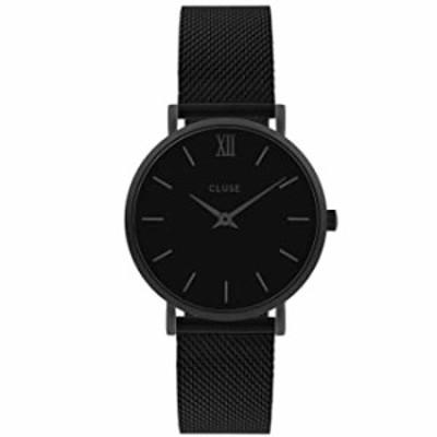 Cluse Women's Minuit 33mm Black Steel Bracelet & Case Quartz Analog Watch CW0101203012