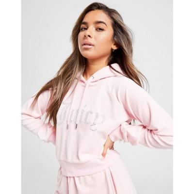 ジューシークチュール JUICY COUTURE レディース パーカー トップス diamante logo velour hoodie pink