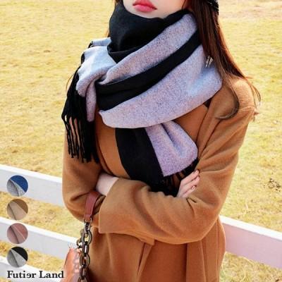 マフラー リバーシブル ロングマフラー ストール ファッション雑貨 韓国 ファッション / リバーシブルロングマフラー