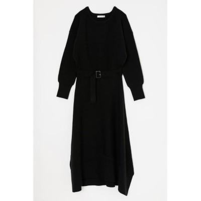 【マウジー】 ASYMMETRY KNIT ドレス レディース ブラック FREE MOUSSY