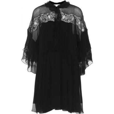 クロエ Chloe レディース ワンピース ワンピース・ドレス Embroidered silk-crepon minidress Black