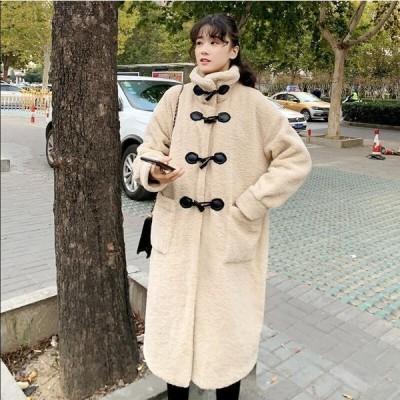 おしゃれロングコート上着ジャケットアウター暖かい冬物レディースオフィスOL通勤フェイクファー女性防寒毛皮コート