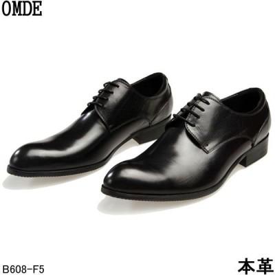 新品 本革 牛革 シューズ 靴 ロングノーズ人気本革レースアップシューズビジネスシューズ紳士靴 omde-B608-F5