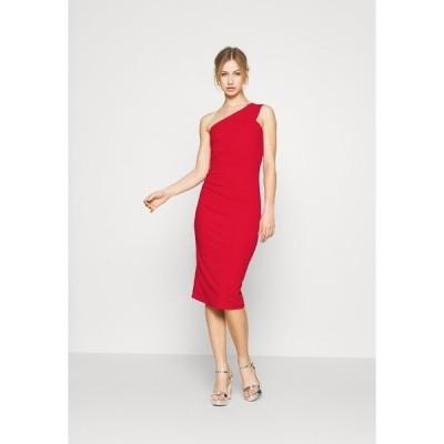 ヴァル ジー ワンピース レディース トップス GRACE RUCHED DRESS - Shift dress - red