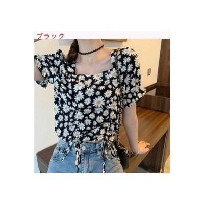 【送料無料】夏 女 韓国風 レトロ デイジー 半袖のワイシャツ デザイン 感 | 364331_A62801-9388965