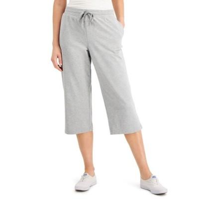 ケレンスコット カジュアルパンツ ボトムス レディース Knit Capri Pants, Created for Macy's Smoke Grey Htr