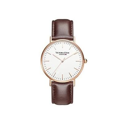 特別価格VICTORIA HYDE クォーツ腕時計 メンズ 読みやすい 本革ベルト ステンレススチール メッシュバンド 調節可能 ビジネス腕時計 防水 ブラウ好評販売中