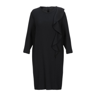 ANTONELLI ミニワンピース&ドレス ブラック 42 バージンウール 100% ミニワンピース&ドレス