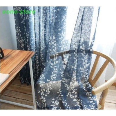 レースカーテン 半遮光 和風 カーテン 丈直し おしゃれ 遮熱 遮炎 UVカット 春 植物柄 安い 洗濯機可能 腰窓 インテリア フック カーテン