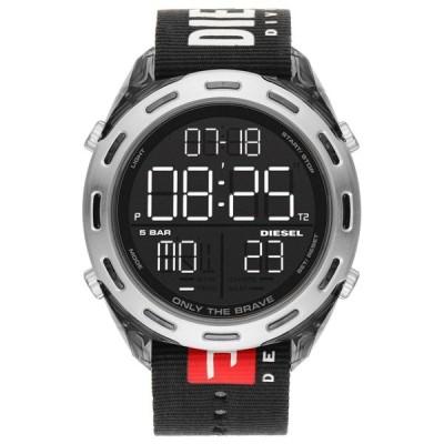 ディーゼル メンズ CRUSHER クラッシャー ブラック 黒 大きい デジタル ウォッチ DZ1914 あすつく 腕時計