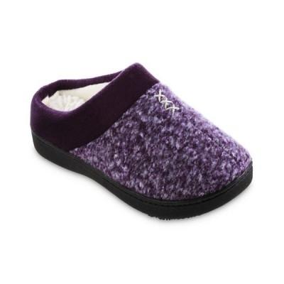 アイソトナー レディース サンダル シューズ Women's Heathered Knit Jessie Hoodback Slippers