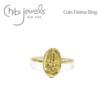 ≪chibi jewels≫ チビジュエルズ メダイ コイン ファティマの聖母 レリーフ 楕円形 オーバル ゴールド リング 指輪 Coin Fatima Ring (Gold)