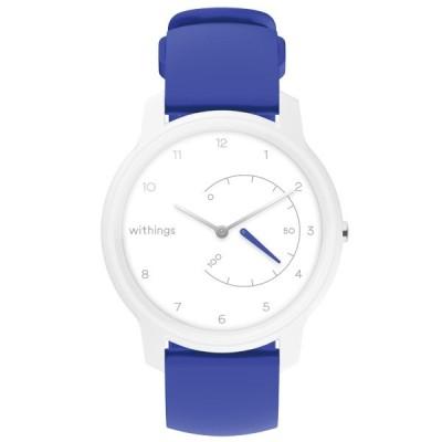 Withings Move( ウィジングズ )スマートウォッチ White & Blue (防水/スマホGPS連携/活動量計&睡眠ウォッチ) HWA06-MODEL 4-ALL-AS