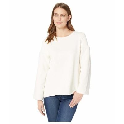 ヴィンスカムート ニット&セーター アウター レディース Fleece Sleeve French Terry Pullover Antique White