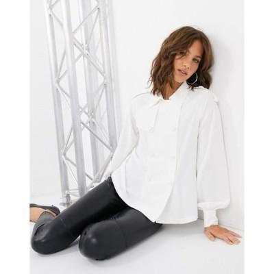 ファッションモンキー レディース シャツ トップス Fashion Union button front blouse
