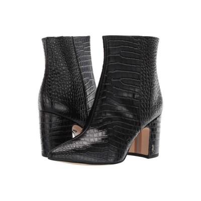 サム エデルマン Sam Edelman レディース ブーツ シューズ・靴 Hilty 2 Black Kenya Croco Emboosed Leather