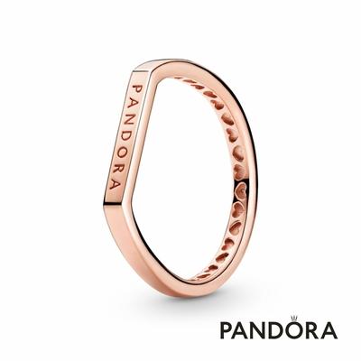 【Pandora官方直營】Logo 橫飾疊戴戒指