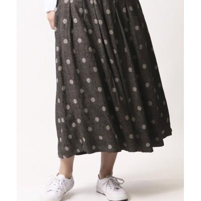 スカート 【 ubasoku / ウバソク 】裏付きタックギャザー83丈スカート ub-0097 BNT
