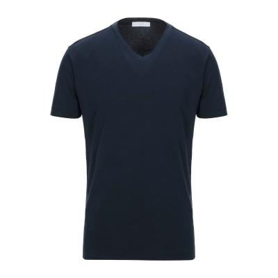 クルチアーニ CRUCIANI T シャツ ダークブルー 54 コットン 93% / ポリウレタン 7% T シャツ