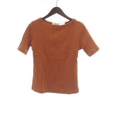 ザ シンゾーン//THE SHINZONE リブ コットン Tシャツ 22K20 サイズ レディースF オレンジブラウン系 ランクA 106  (中古)