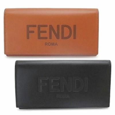 フェンディ 長財布 メンズ 7M0264 AFCL 二つ折り財布 コンチネンタル財布 ロゴ レザー FENDI CONTINENTAL