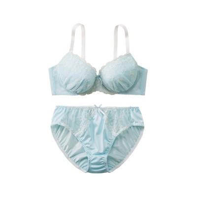 ハートセレネイドブラ。ショーツセット(E90/4L) (ブラジャー&ショーツセット)Bras & Panties