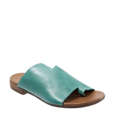 ブエノ レディース サンダル シューズ Tulla Toe Post Leather Slide Sandals Turquoise