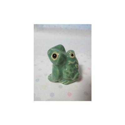 *信楽焼 親子カエル GR 4,5(かえる 蛙)「風遊」