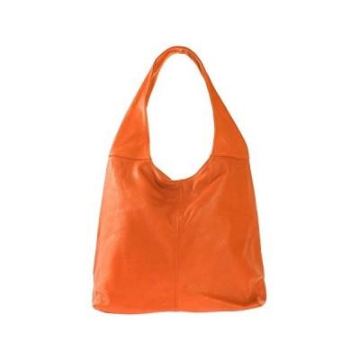 Chicca Borse, Women's Shoulder Bag, Orange (Cuoio), 55 cm (55 cm) 並行輸入品