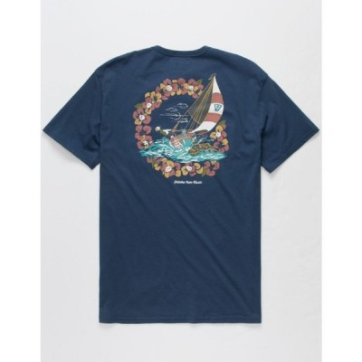 ヴィスラ VISSLA メンズ Tシャツ ポケット トップス Helloha Pocket Tee NAVY