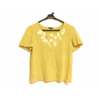 トゥービーシック TO BE CHIC 半袖セーター サイズ6 M レディース - ライトイエロー×アイボリー×白【還元祭対象】【中古】20201005
