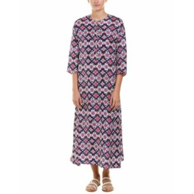 Maxi  ファッション ドレス Roller Rabbit Silk Maxi Dress M Purple