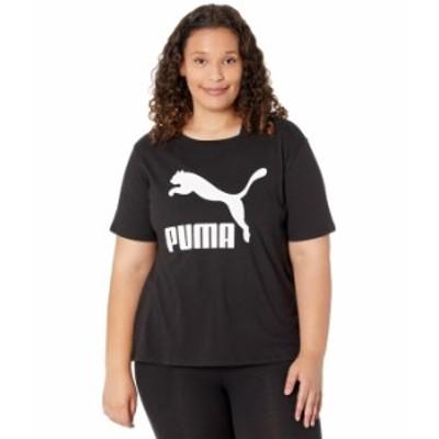 プーマ レディース シャツ トップス Plus Size Classics Logo Tee PUMA Black