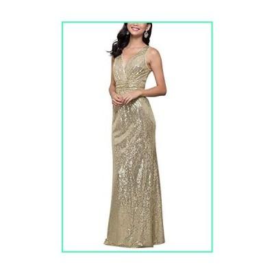 LanierWedding Gold Sequins Bridesmaid Dresses Plus Size Prom Dresses 600 Champagne Size 6並行輸入品