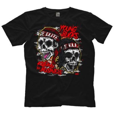 AEW(オール・エリート・レスリング) Tシャツ「All Elite Wrestling YOUNG BUCKS ヤングバックス Still Killing The Business Tシャツ」アメリカ直輸入Tシャツ
