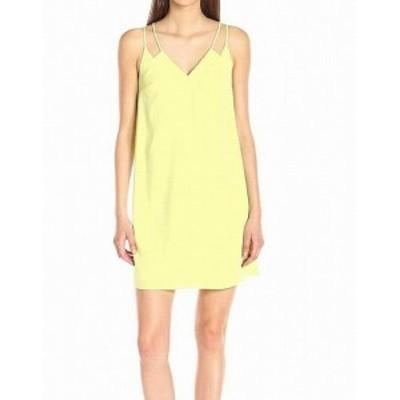 CeCe  ファッション ドレス CeCe Bright Green Citrana Womens Size 12 V-Neck Sweeney Shift Dress