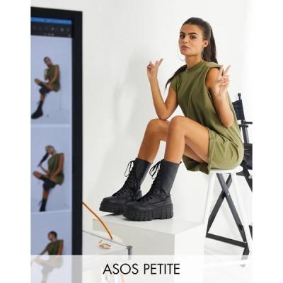 エイソス ミディドレス レディース ASOS DESIGN Petite padded shoulder sleeveless mini t-shirt dress in khaki エイソス ASOS カーキ