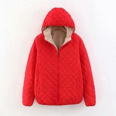 2018冬新作レディース裏ボアキルティング中綿フードコートショート丈暖かい厚手ジップアップ防寒ジャケット冬アウター