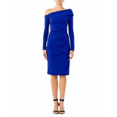 ニコールミラー レディース ワンピース Structured Heavy Jersey Off-The-Shoulder Dress