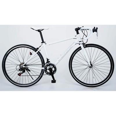 21Technology 700C ホワイト ロードバイク(700×28C・14段変速) メーカー直送