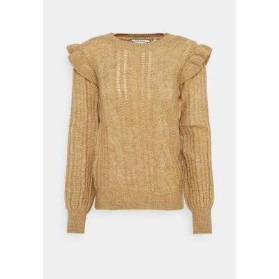 レディース ファッション Jumper - camel chine