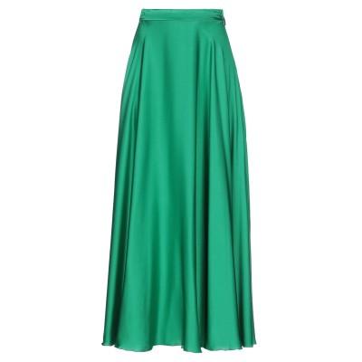 エムエスジーエム MSGM ロングスカート グリーン 40 アセテート 65% / シルク 35% ロングスカート